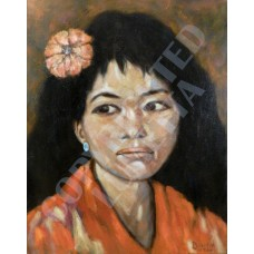 Shaghai Woman with Flower and Jade